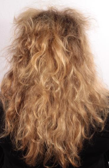 Die Maske für das Haar mit dem Brennesselöl